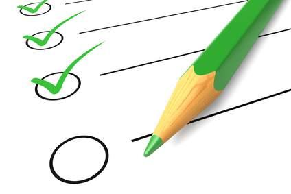 Eine grüne Longboard Test Checkliste