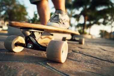Pintail Longboard bei Sonnenschein